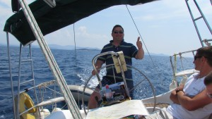 Wisey at the helm!