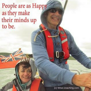 People are as happy as they make their minds up to be.